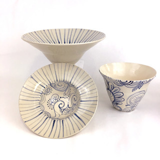 """Persian Inspired Porcelain Bowls"" by Kristin C. Law"