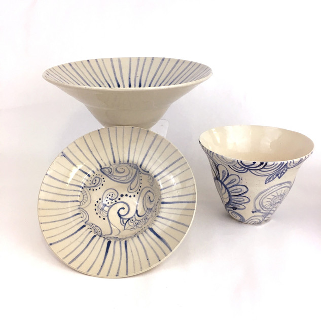 """""""Persian Inspired Porcelain Bowls"""" by Kristin C. Law"""