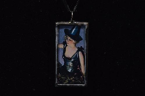 Vintage Witch Postcard Necklace-Debra Farley