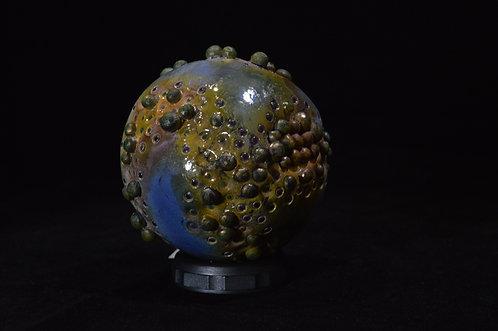 Bumpy Blue Ceramic Ball-Corinne Cox