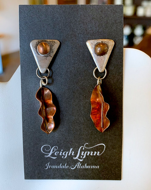 Copper and Sterling Earrings-Leigh Lynn