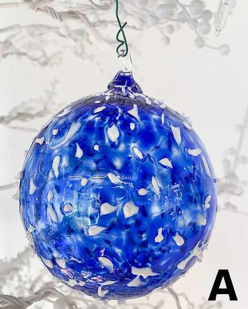 Textured Snowfall Ornaments-Chris McCarthy
