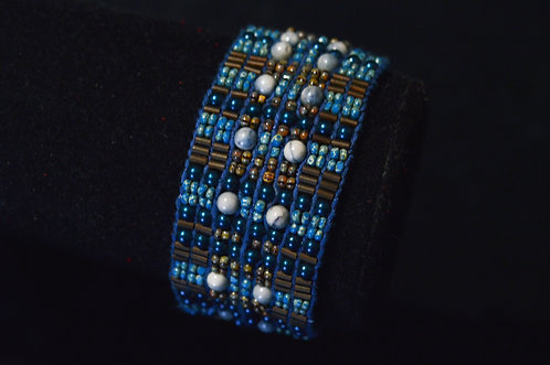 Evening Pearls Loomed Bracelet - Jean Upton