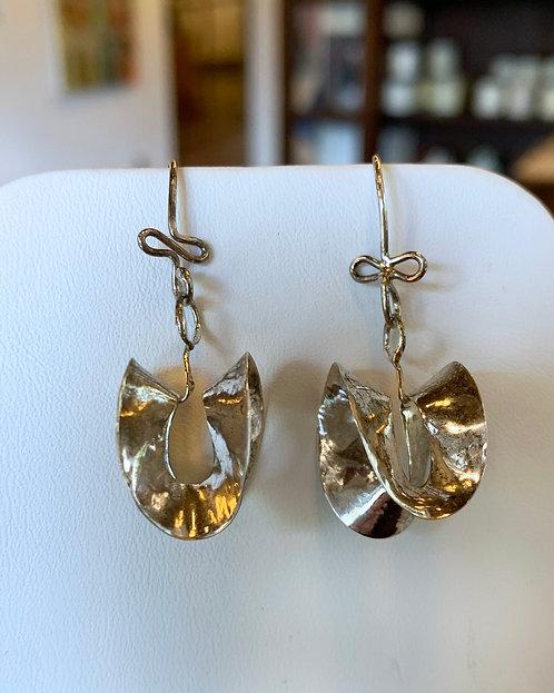 Folded Sterling Earrings-Leigh Lynn