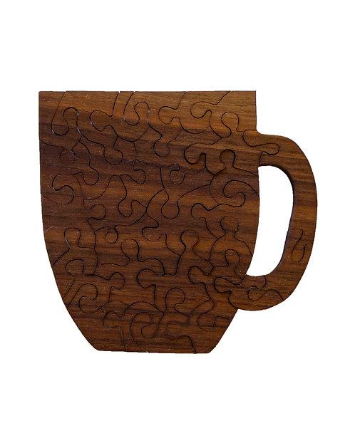 Coffee Cup Wood Puzzle-Chestnut & Hemlock
