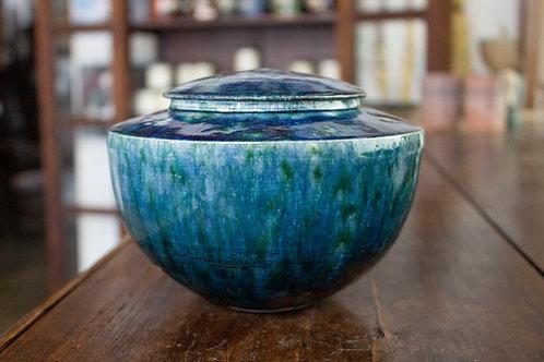Blue Raku Jar-Daniel Livingston