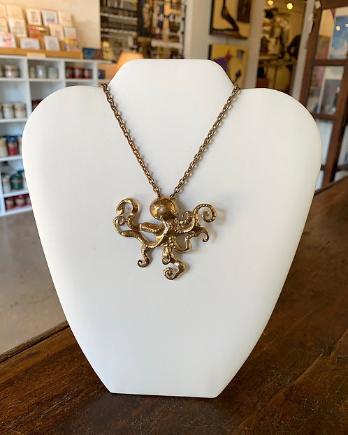 Octopus Pendant Necklace-Ricky Boscarino
