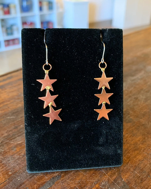 Star Earrings-Suzanne & Angelique Juneau