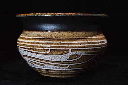 Geometric Brown Bowl-Charles Smith