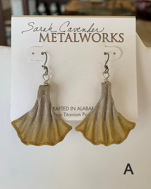 Ginkgo Leaf Earrings-Sarah Cavender