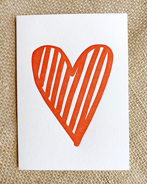 Heart Greeting Card-Thimblepress