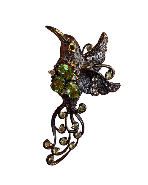 Hummingbird Broach & Pendant-Megan Austin