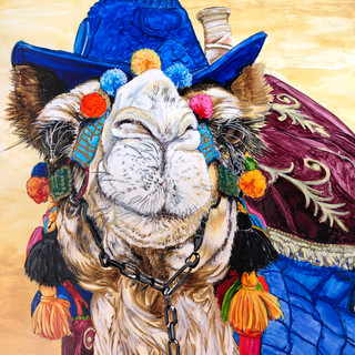 """Cosmo the Camel"" by Marla Kurzec"