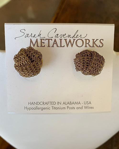 Mesh Knot Earrings-Sarah Cavender