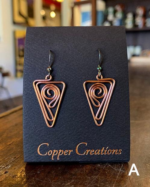 Copper Wire Earrings-Sarah Henderson