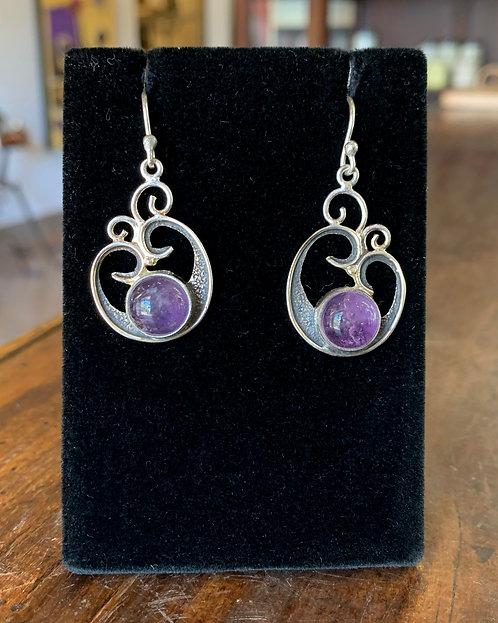 Silver Amethyst Earrings - Megan Austin