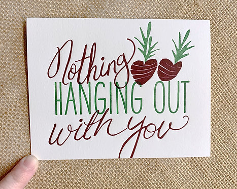 Nothing Beets Hanging Out With You Greeting Card-Thimblepress