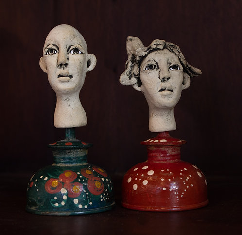 Small Oil Can Sculptures-Amber Anne Palo