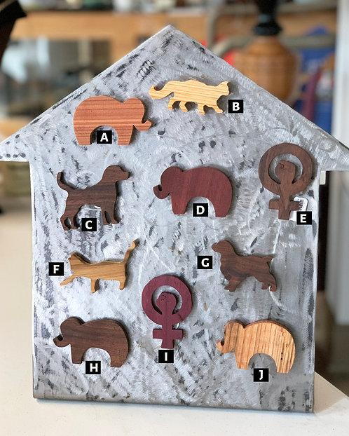 Wooden Magnets-Chestnut & Hemlock