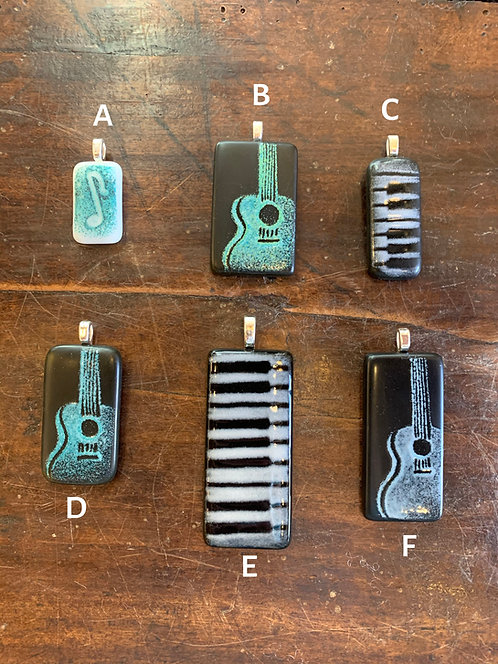 Music Recycled Wine Bottle Pendants-Steve Smith