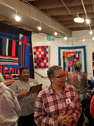 Candid Photo of Art Night - Gee's Bend Quilters exhibition 2019