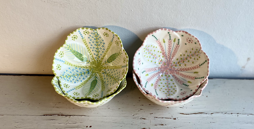 Hand Painted Pudding Bowls