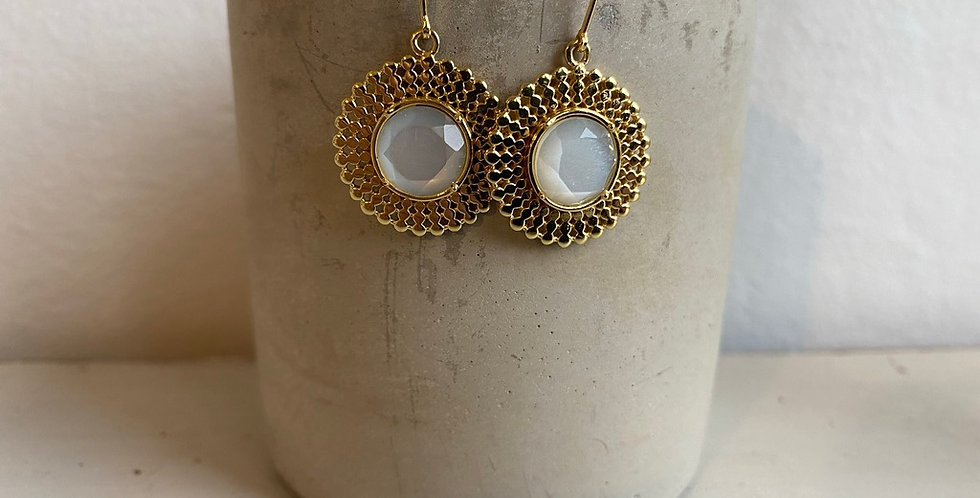 Azuni white moonstone earrings