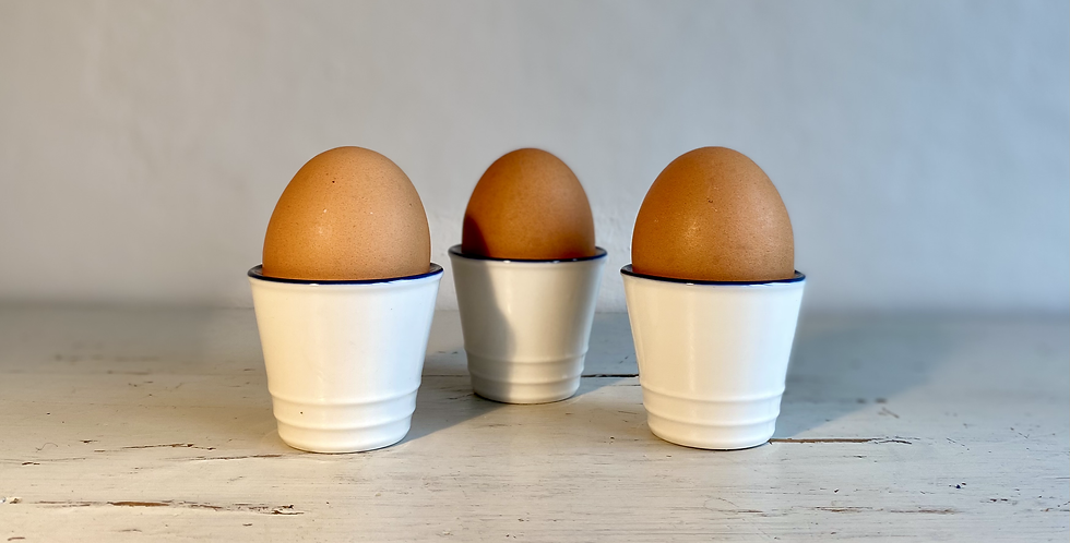 Farmhouse White Egg Cups