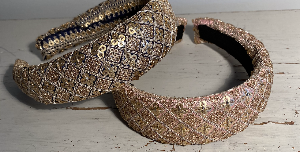 Indian Sequin Style  Wide Hairbands