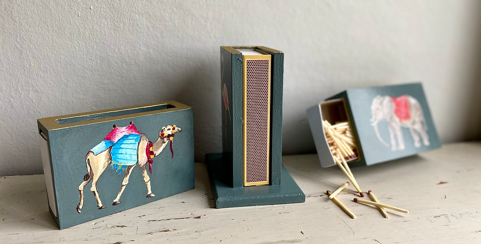 Hand Painted Matchbox Holders