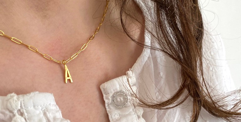 Initial Necklace  Letters N to Z