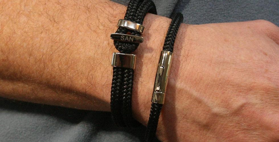 Black Rope Link Bracelet