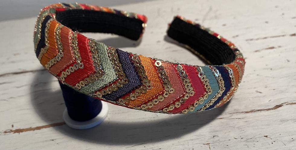 Multicoloured Chevron Design Hairband
