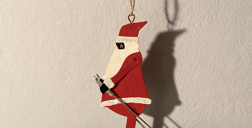Father Christmas Skiing