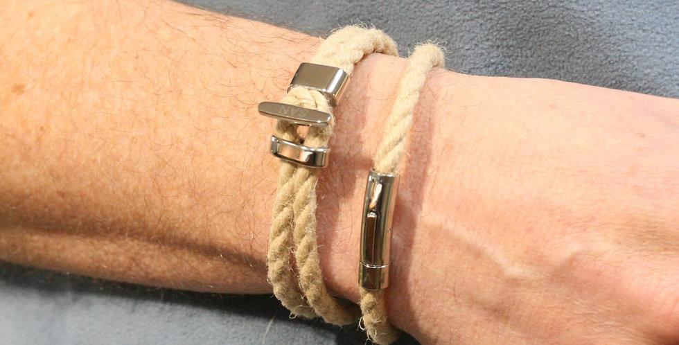 Rope link bracelet