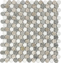 Thassos Penny Round Marble Mosaic