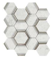 Bianco Carrara Hexagon Marble Mosaic