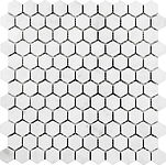 "bianco carrara 1"" hexagon"