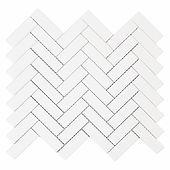 "1"" x 3"" Herringbone Bianco Dolomite Mosaic"