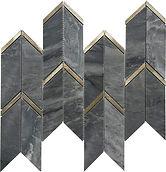 Bardiglio Arrow Marble Mosaic