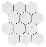"Bianco Carrara 4"" Hexagon"