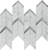 Bianco Carrara Arrow Marble Mosaic