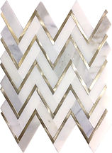 Calacatta Gold Herringbone Metal