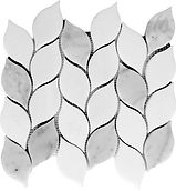 Thassos Willow Branch Marble Mosaic