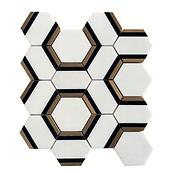 Thassos Hexagon Marble Mosaic