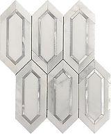 Eastern White Slim Hexagon Marble Mosaic