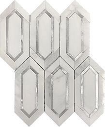 Eastern White Slim Hexagon