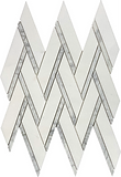 Thassos Herringbone Marble Mosaic