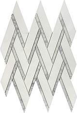 Thassos Herringbone w/ Bianco Carrara