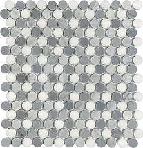Bianco Carrara Penny Round Marble Mosaic